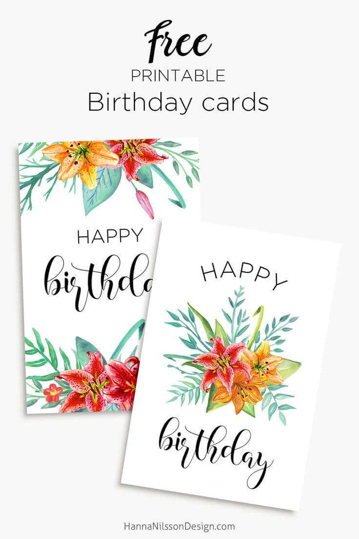 Printable Floral Birthday – Cards, Tags & Gift Box   Cards in Mom Birthday Card Template