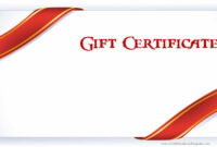 Printable Gift Certificate Templates Throughout Present for Present Certificate Templates