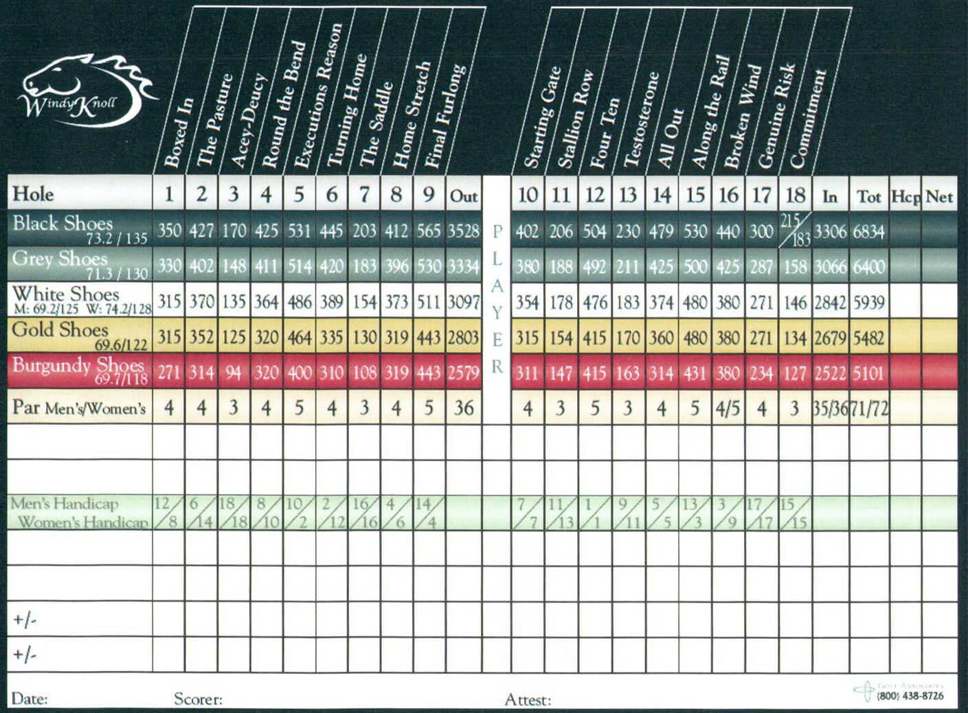 Printable Golf Scorecard - Yupar.magdalene-Project for Golf Score Cards Template
