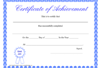 Printable Hard Work Certificates Kids | Printable pertaining to Blank Certificate Of Achievement Template