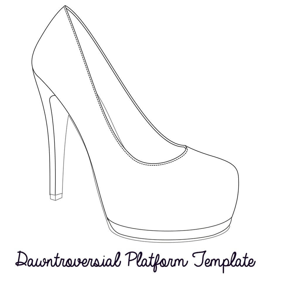 Printable High Heel Stencil Best Photos Of <B>High Heel With High Heel Shoe Template For Card