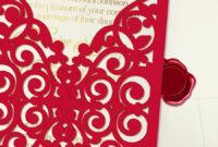 Printable Laser Cut Wedding Invitation Template, Vector inside Free Svg Card Templates