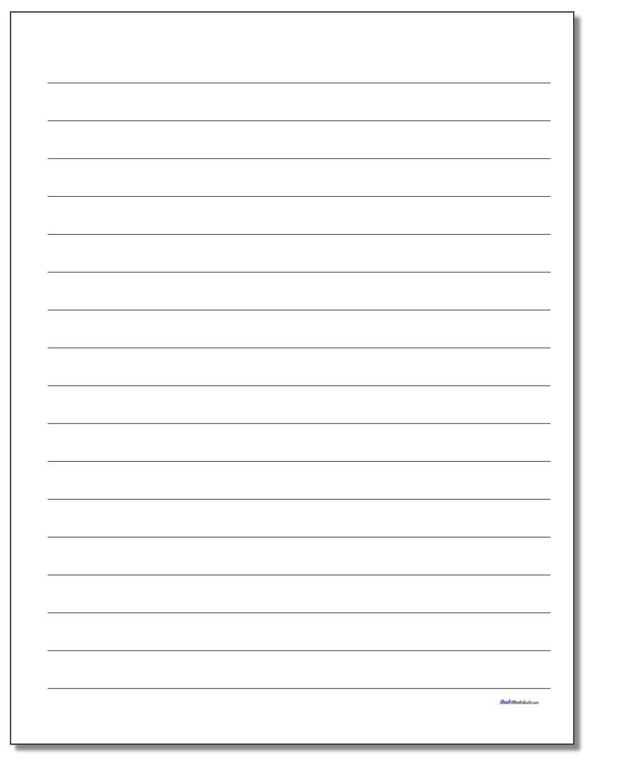 Printable Lined Paper with regard to Ruled Paper Template Word