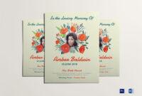 Printable Memorial Flyer with regard to Memorial Brochure Template