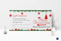 Printable Merry Christmas Gift Certificate within Gift Certificate Template Photoshop