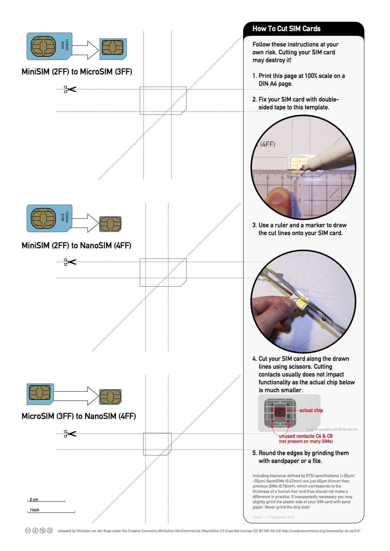 Printable Nano Sim And Micro Sim Cutting Guide [Download Regarding Sim Card Cutter Template