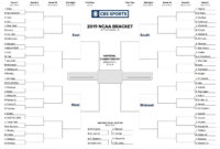 Printable Ncaa Tournament Bracket For March Madness 2019 pertaining to Blank Ncaa Bracket Template