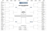 Printable Ncaa Tournament Bracket For March Madness 2019 with Blank March Madness Bracket Template