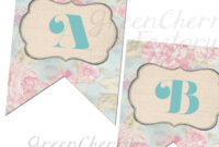 Printable Party Banner – Bridal Shower Banner – Up To 18 in Free Bridal Shower Banner Template