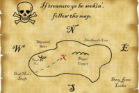Printable Pirate Treasure Map Best Photos Of Template Blank pertaining to Blank Pirate Map Template