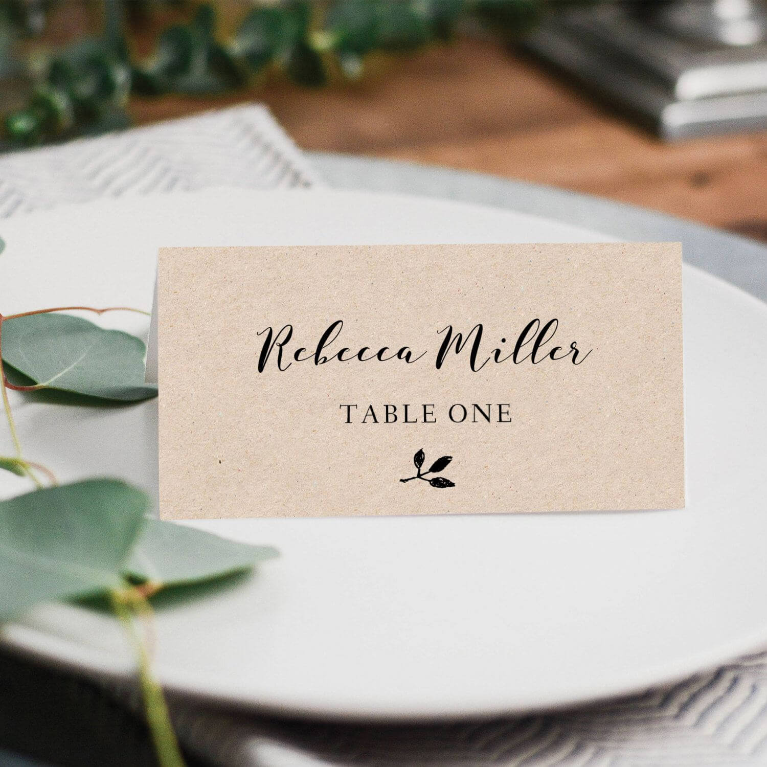 Printable Place Cards, Place Card Template, Editable Place pertaining to Ms Word Place Card Template