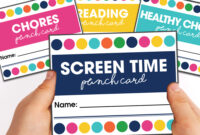 Printable Punch Cards For Kids   Moritz Fine Designs intended for Free Printable Punch Card Template