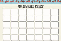 Printable Reward Chart Template | Activity Shelter intended for Blank Reward Chart Template