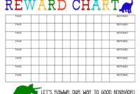 Printable Reward Chart – The Girl Creative inside Blank Reward Chart Template