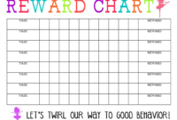Printable Reward Chart – The Girl Creative with regard to Blank Reward Chart Template
