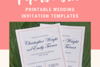 Printable Rsvp Card Template – Blue Coral – Harper (Instant with regard to Free Printable Wedding Rsvp Card Templates