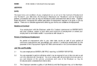 Printable Sample Employment Contract Sample Form | Laywers for Nanny Contract Template Word