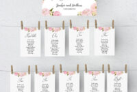 Printable Seating Chart Template, Wedding Table Plan with Wedding Seating Chart Template Word