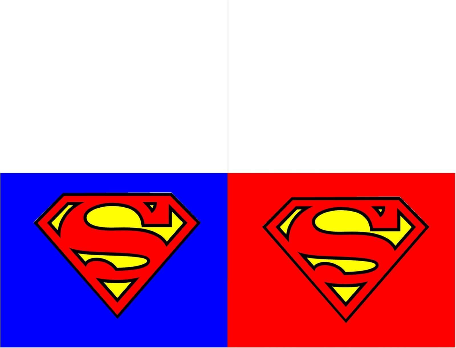 Printable Superman Thank You Cards   Superman Printables regarding Superman Birthday Card Template