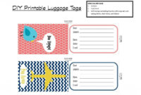 Printable Tags | With That In Mind, I've Created A Set Of intended for Luggage Tag Template Word