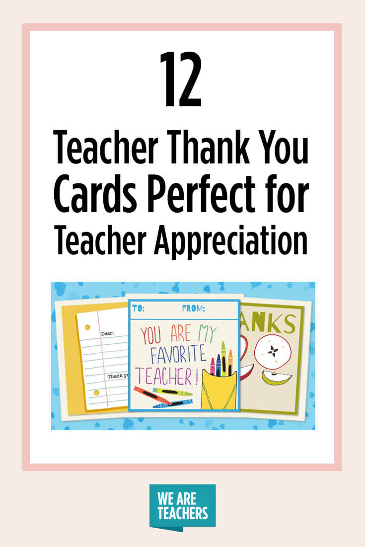 Printable Teacher Thank You Cards For Teacher Appreciation in Thank You Card For Teacher Template