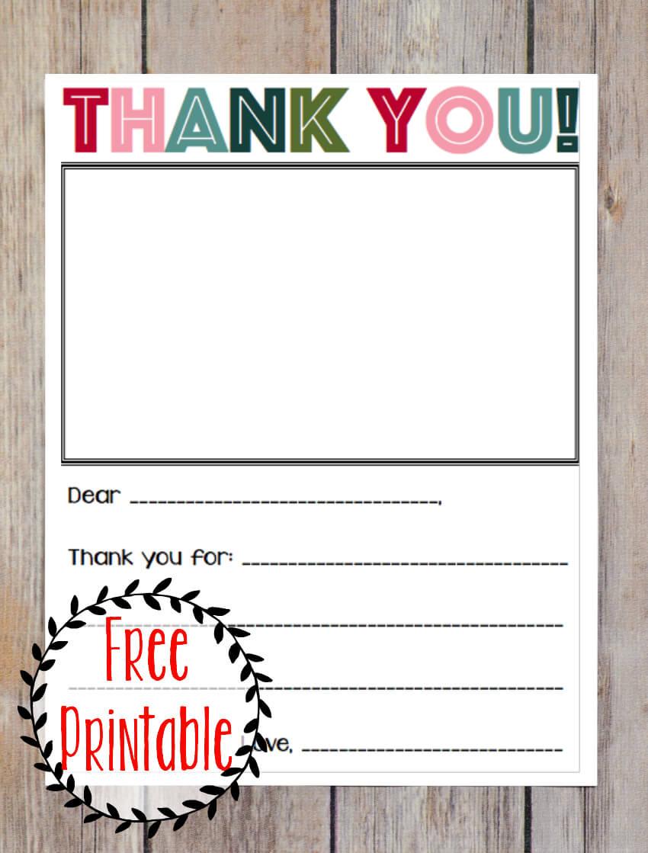 Printable Thank You Note | Printable Thank You Notes, Thank regarding Christmas Thank You Card Templates Free