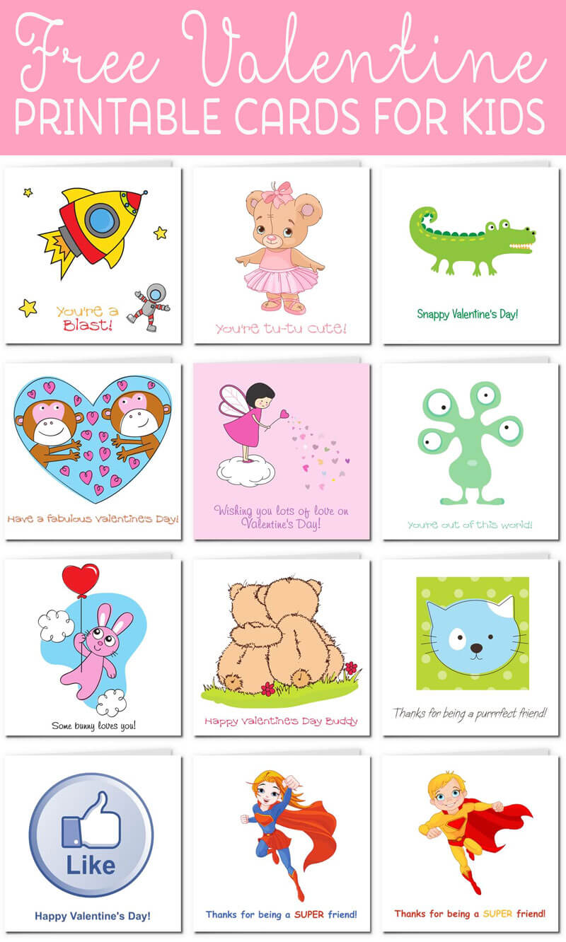 Printable Valentine Cards For Kids For Valentine Card Template For Kids