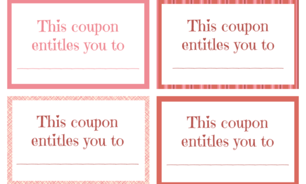 Printable Valentine Coupon Book Blank | Coupon Template throughout Blank Coupon Template Printable