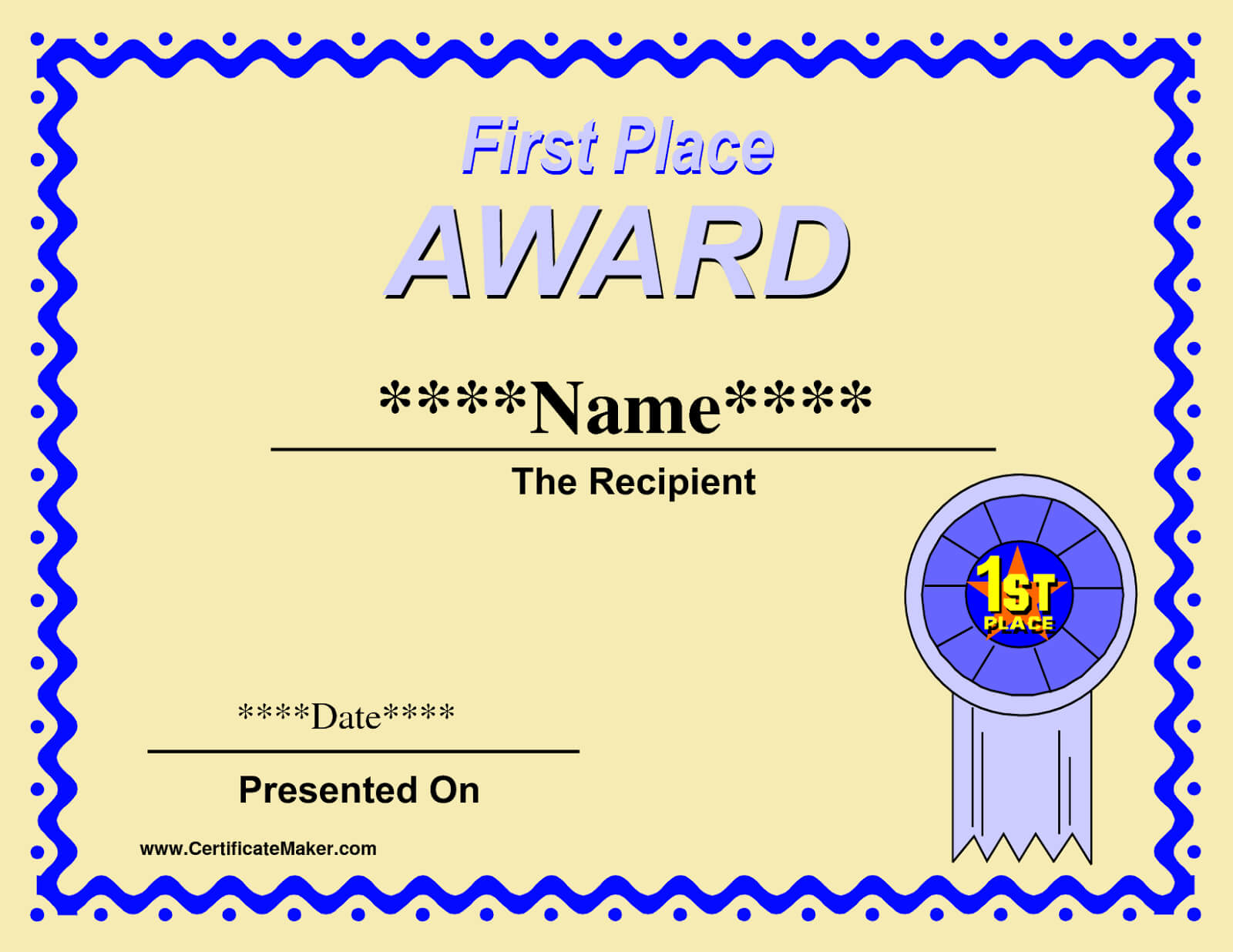 Printable Winner Certificate Templates | Certificate throughout First Place Award Certificate Template