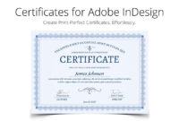Printperfect – Certificate Templates For Indesign Pertaining To Indesign Certificate Template