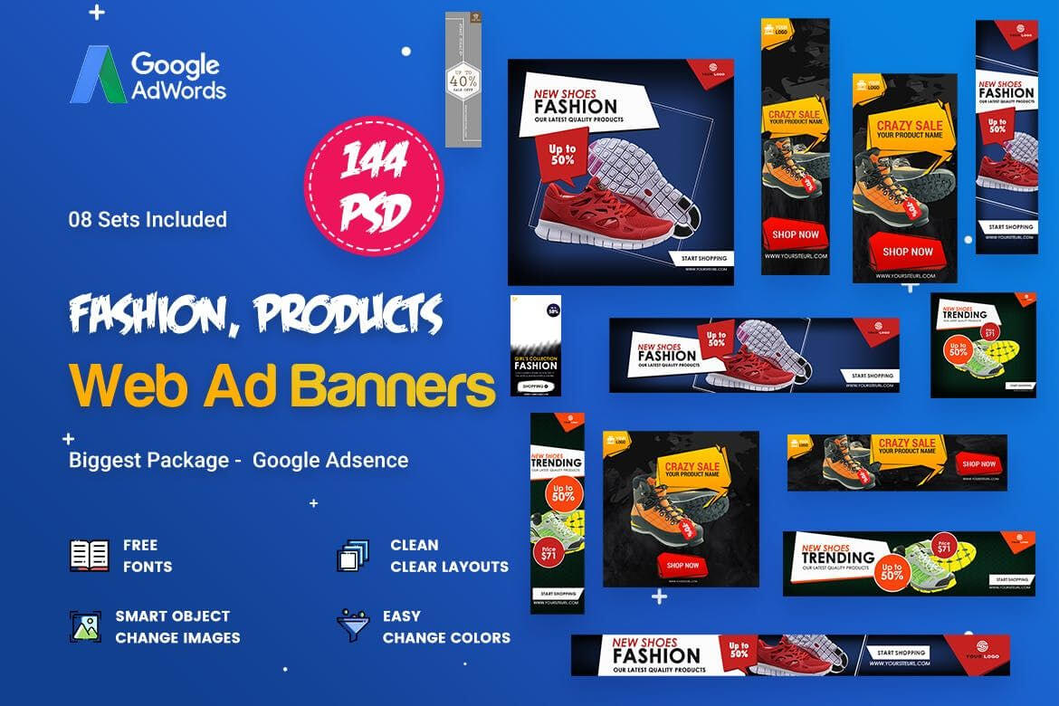 Product Banners Ads Template Psd | Web Banners - Ads | Ads inside Product Banner Template