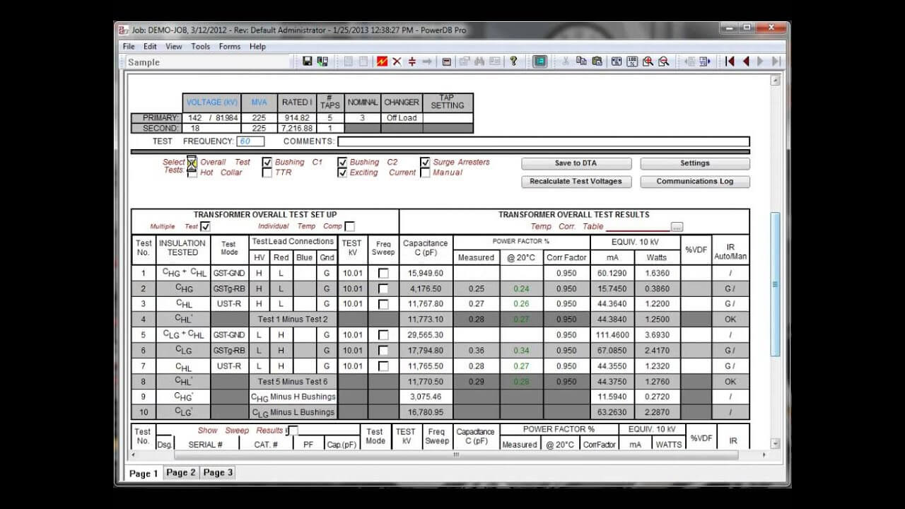 Products inside Megger Test Report Template