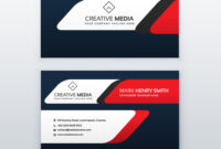 Professional Business Card Design Template In Red in Professional Name Card Template