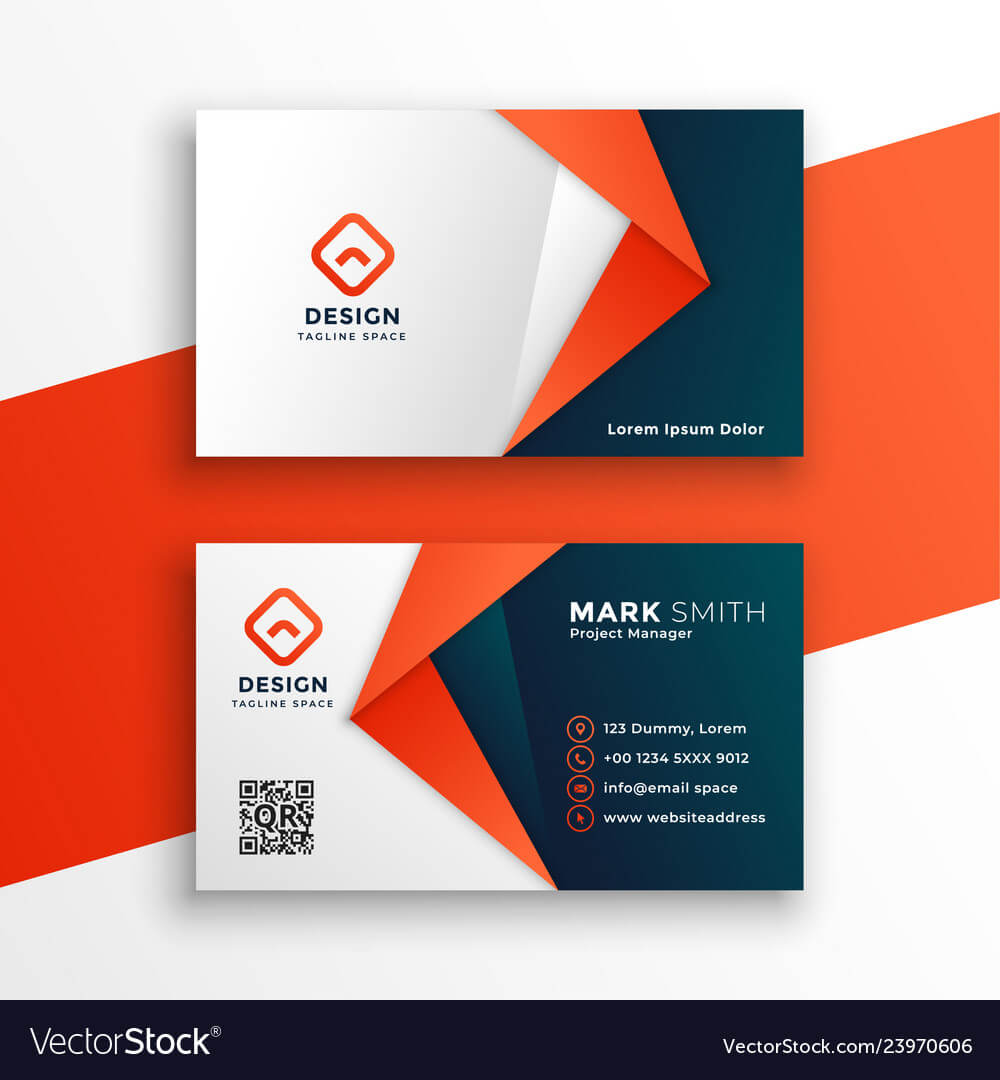 Professional Business Card Template Design Throughout Designer Visiting Cards Templates