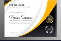 Professional Certificate Template Diploma Award Pertaining To Professional Award Certificate Template