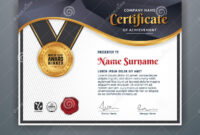 Professional Certificate Template Stock Vector Intended For Professional Award Certificate Template
