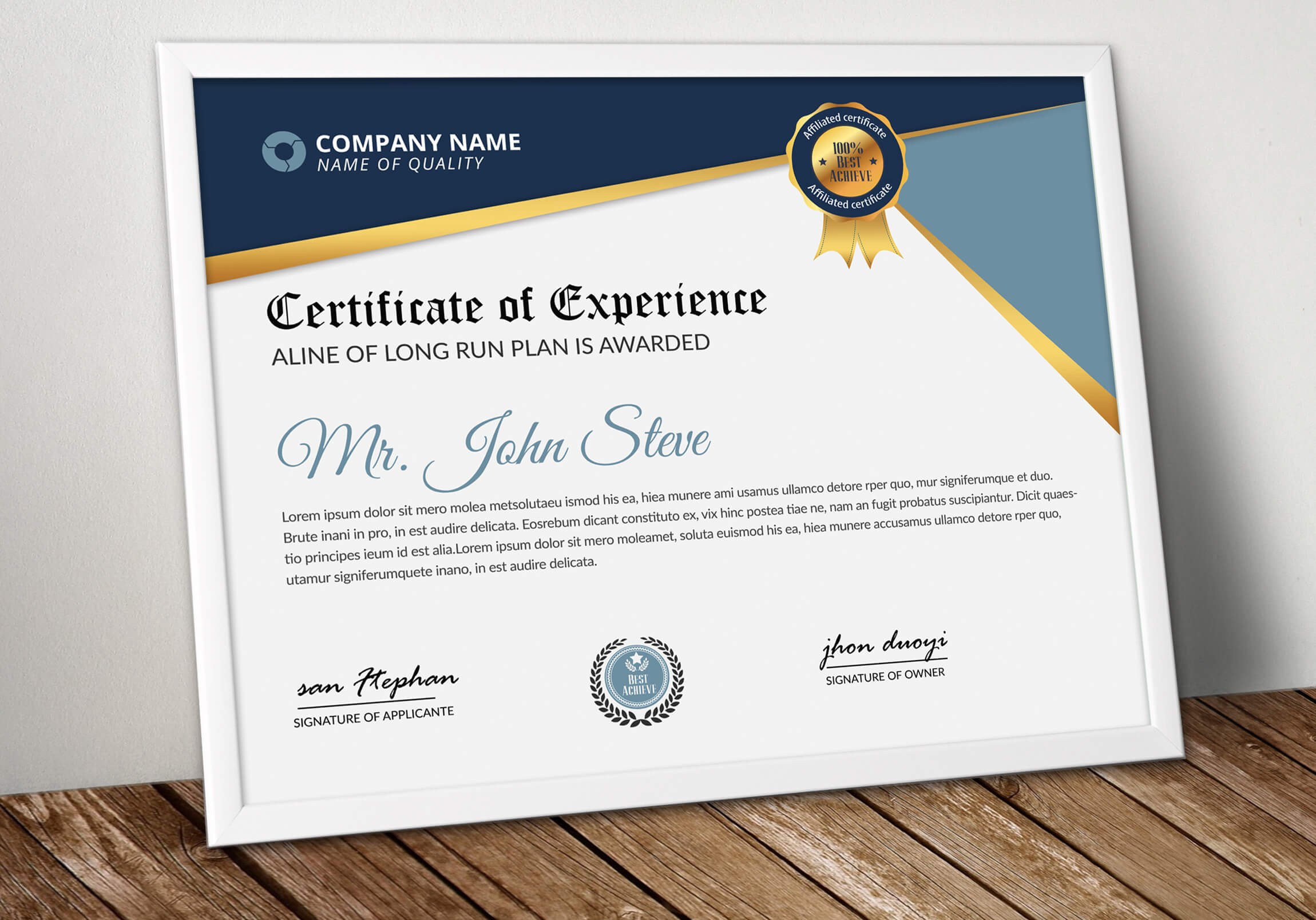 Professional Certificatetemplate Word - Vsual throughout High Resolution Certificate Template