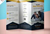 Professional Corporate Tri-Fold Brochure Free Psd Template inside Brochure 3 Fold Template Psd