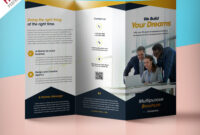 Professional Corporate Tri-Fold Brochure Free Psd Template with Brochure Psd Template 3 Fold
