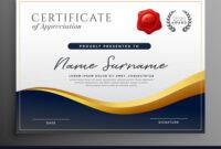Professional Diploma Certificate Template Design With Professional Award Certificate Template