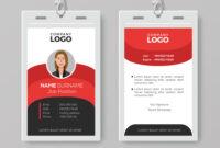 Professional Employee Id Card Template in Work Id Card Template