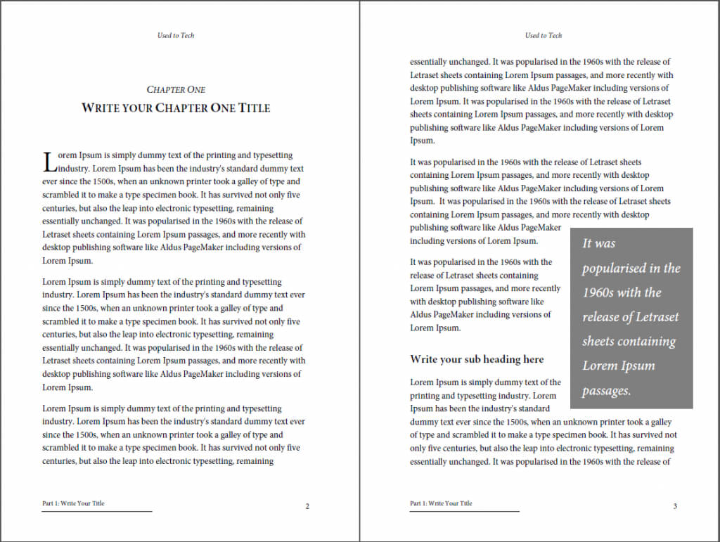 Professional-Looking Book Template For Word, Free - Used To Tech intended for How To Create A Book Template In Word