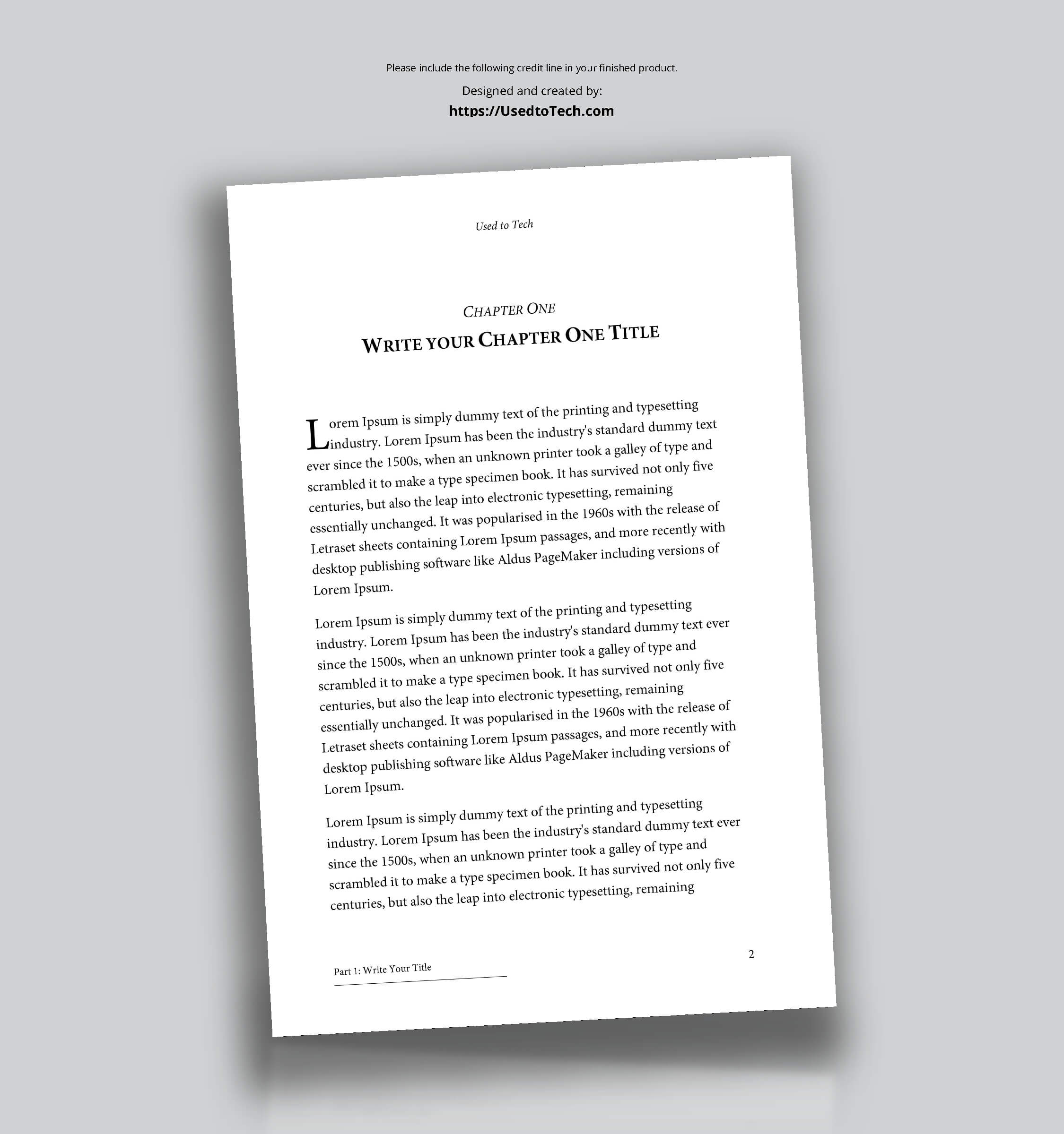 Professional-Looking Book Template For Word, Free - Used To Tech with How To Create A Book Template In Word