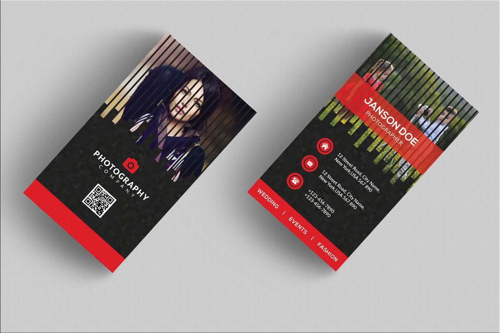 Professional Photographer Business Card Psd Bundle - Free with Photography Business Card Templates Free Download