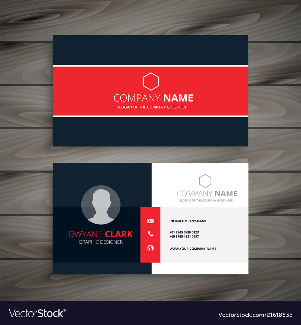Professional Red Business Card Template For Buisness Card Templates