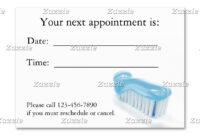 Profile Card   Dental   Dental, Dental Technician, Custom with Dentist Appointment Card Template