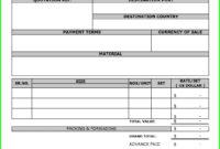 Proforma Invoice Template Pdf Invoice Template Ideas (Pro regarding Free Proforma Invoice Template Word