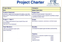 Project Charter Example | Template Business for Team Charter Template Powerpoint