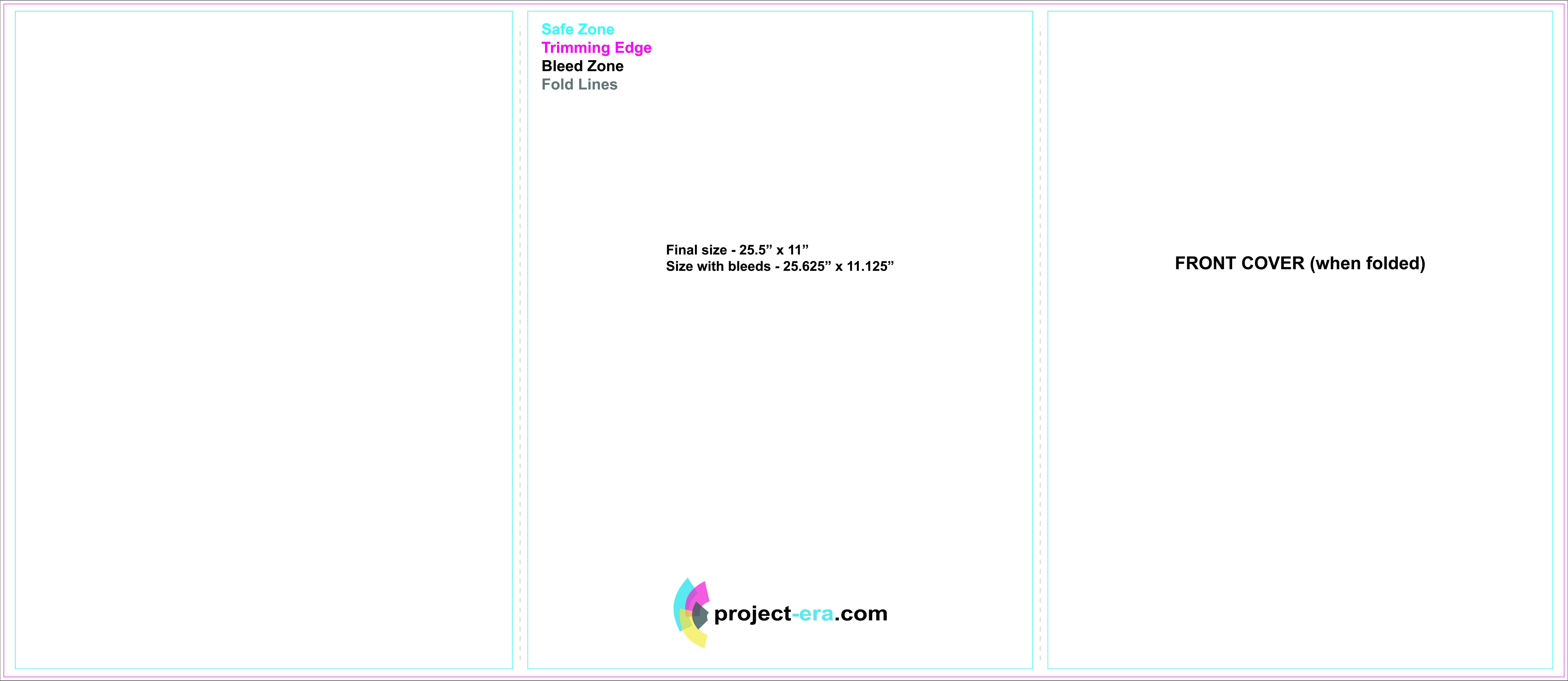 Project Era – Print & Design Services – Print Templates For 8.5 X11 Brochure Template