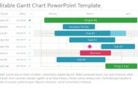 Project Gantt Chart Powerpoint Template pertaining to Project Schedule Template Powerpoint